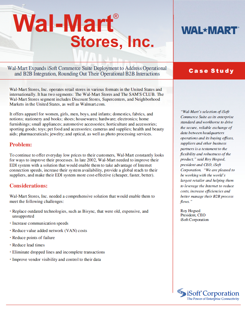 case study on wal mart's discount Founded in the year 1962, by sam walton, wal-mart was a single discount store in rogers situated in the state of arkansas then the growth of the wal-mart chain of stores has been tremendous.